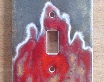 Flame ceramic switchplate cover