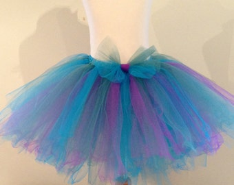 Girls Deep Blue, Green and Purple Tutu Skirt