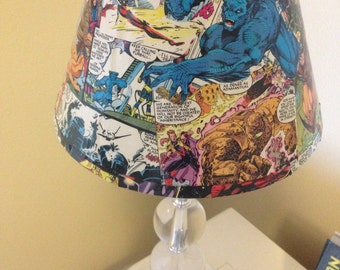 Comic Book Super Hero Lampshade (any character, any size)