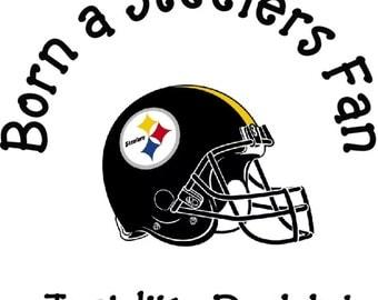 Born Steelers Fan just like daddy!