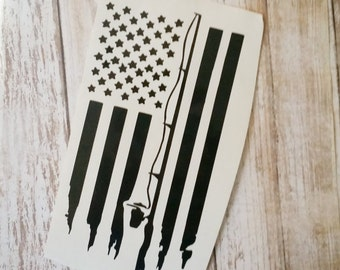 Fishing Flag Decal/ Fishing Tackle Box/ Hydro Flask Decal/Boat Decal/ Fishing Pole Decal/ Fisherman Decal/ gifts for him/ Gone Fishing Decal