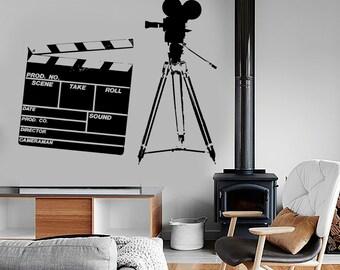 Wall Vinyl Decal Art Camera Film Movie Amazing Living Room Decor 1360dz