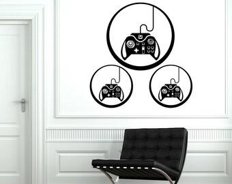 Wall Decal Gaming Joystick Joypad Gamepad Controller Gamer Vinyl Decal Sticker 1810dz