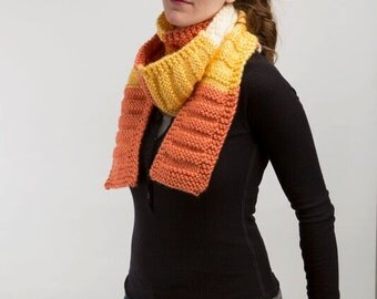 Candy Corn Knit Scarf