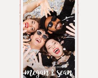 Custom Snapchat Geofilter for Weddings