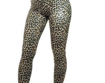 Spandex leggings Leopard print