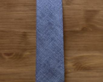 men's necktie - solid textured grey