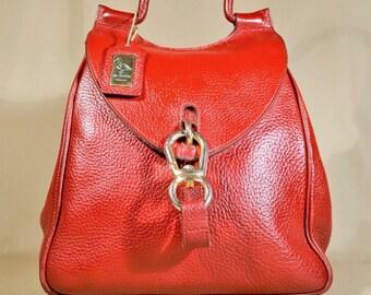 Vintage Burgundy de Belon Brabeloo Leather Bag, Shoulderbag, Handbag, Office Bag, Lady Bag