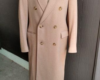 Vintage Yves Saint Laurent Double Breasted Wool Coat