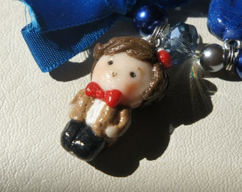 Matt Smith from Doctor Who (The Eleventh Doctor) Polymer Clay Charm