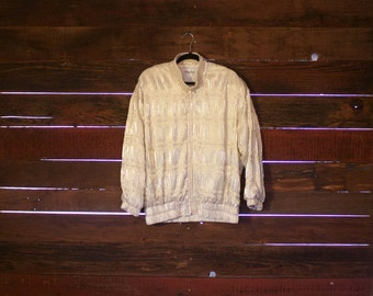 Rad Vintage 1980s Gold Poof Jacket