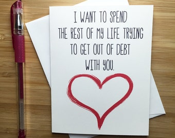 Romantic Card, Funny Love Card, Anniversary Card, Love Greeting Cards, Greeting Card, For Husband, For Wife, Cute Greeting Card