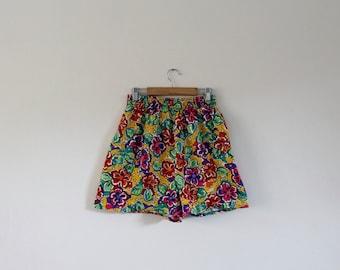 Vintage 1990s Summer Shorts   Floral Shorts   Beach Shorts