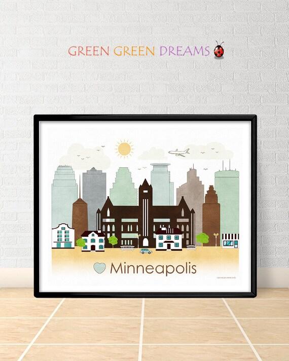 Minneapolis Poster Print Wall Art Minnesota By Home Decorators Catalog Best Ideas of Home Decor and Design [homedecoratorscatalog.us]