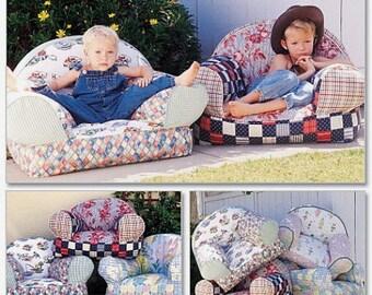 Kids Chair Sewing Pattern Uncut McCalls 9665 Childrens stuffed arm chair