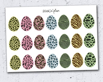 Easter Eggs Planner Stickers