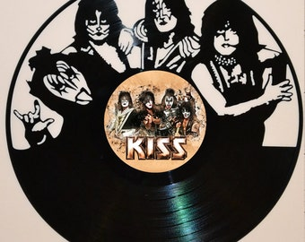 Kiss Band vinyl record wall art