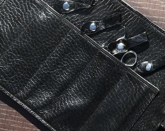 Professional Hairdresser Scissor Case, Beard Grooming Bag, Barber Traveling Tool Pouch, Valentines Leather Beard Bag Gift
