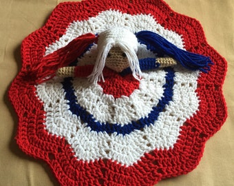 Crochet Harley Quinn Lovey, Security Blanket