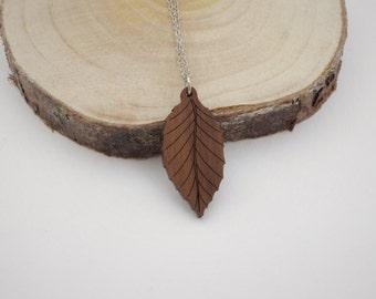Beech Leaf Necklace | Laser Cut Nature Jewellery