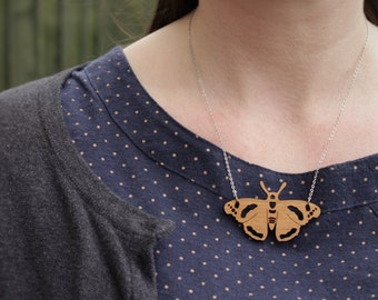 Red Admiral Butterfly Necklace | Laser Cut Nature & Insect Jewellery