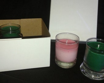Sale!!! Thanksgiving/Christmas Inspired Box of Votive Candles