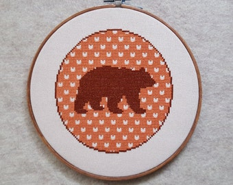Bear Silhouettecross stitch - pattern only