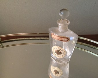 "Antique perfume bottle, early 1900's, "" Lilas"" .  Small glass art bottle with stopper."