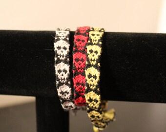 Skull Woven Friendship Bracelet