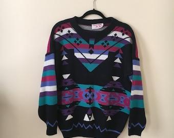 SUMMER SALE!!! Vintage 1980s 1990s Oversized Sweater