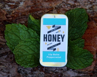 Rainey Honey Lip Balm - Peppermint / made with raw honey and raw beeswax