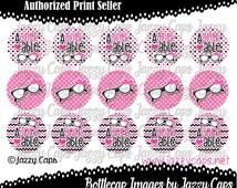 "SALE Printed - Precut: ADORKABLE - 2276 - 1"" bottle cap designs - bottle cap crafts - bottle cap ideas - bottlecaps for hair bows"
