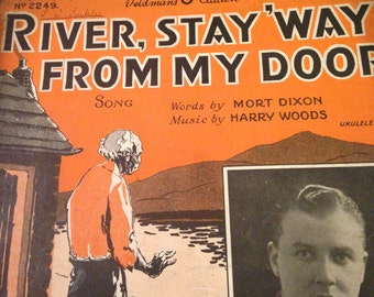 Vintage Feldman's 6D Edition 1931 Sheet Music - River, Stay 'Way From My Door.