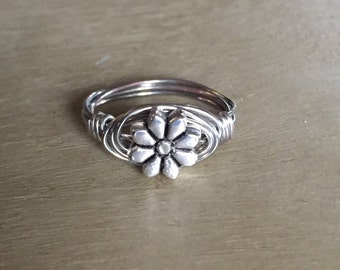 Daisy Wire Wrapped Ring
