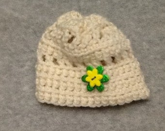 Crocheted Infant Girl Hat