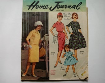Australian Home Journal Magazine with free patterns - August 1961