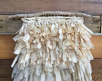 Woven Wall Hanging Tapestry Weaving Cotton Silk Fiber Art Textile Home Decor Markota1970