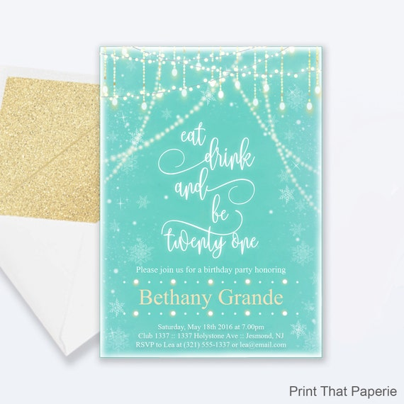 21st birthday invitation snow fairy lights invitation milestone il570xn filmwisefo