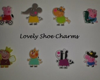 Peppa Pig & Friends Shoe Charms/Jibbitz (Set of 8)