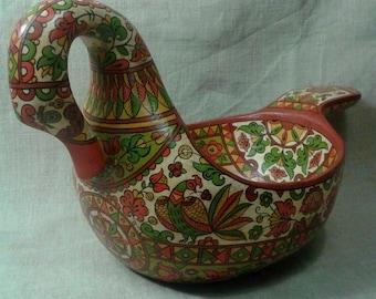 "Russian folk art.Hand made wooden ladle ""Swan"".Home decor. Wood Bowl.Ladle."
