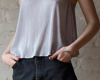 90s Vintage Pleated Camisole Cami Top