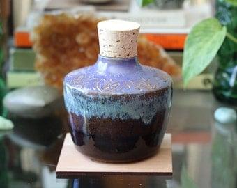 Ceramic Carved Cork Jar