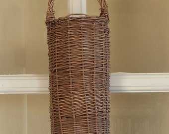 Wall basket narrow hanging rustic wall basket cottage chic decor cabin decor empty wall basket narrow plain baskets wall sconce baskets cute