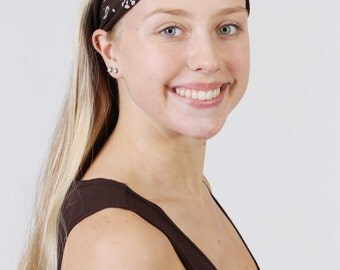 Activewear Headband for Women -  Brown Yoga,Workout Hairband-Stretch Cotton Fitness & Fashion Hair Accessory-Handmade-Buy Any 4,Get 1 FREE!