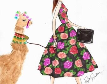 Fashion Illustration, fashion art, home decor, peru art, fashion skecth, art decor, art, sketch, decor, ilustracion de moda,