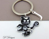 Cat KeyChain Pet Keyring Personalised Cat Keyring Animal Key Ring  Gifts for Cat Lovers
