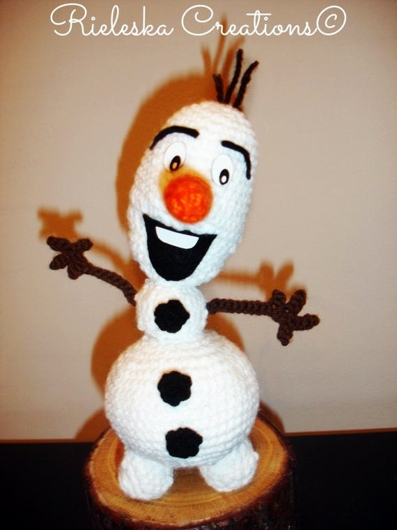 Crochet pattern pdf Olaf the snowman From by Rieles on Etsy