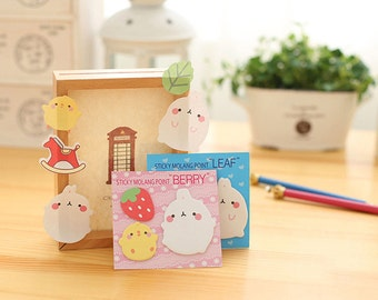 Kawaii Molang Sticky Notes / Cute Sticky Notes / Kawaii Sticky Notes / Molang Notes / Cute Rabbit Notes / Bunny Sticky Notes / Stationary