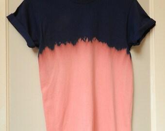 Tie Dye T-Shirt acid wash T-shirt hipster Retro 90s dip dye grunge indie 80s top