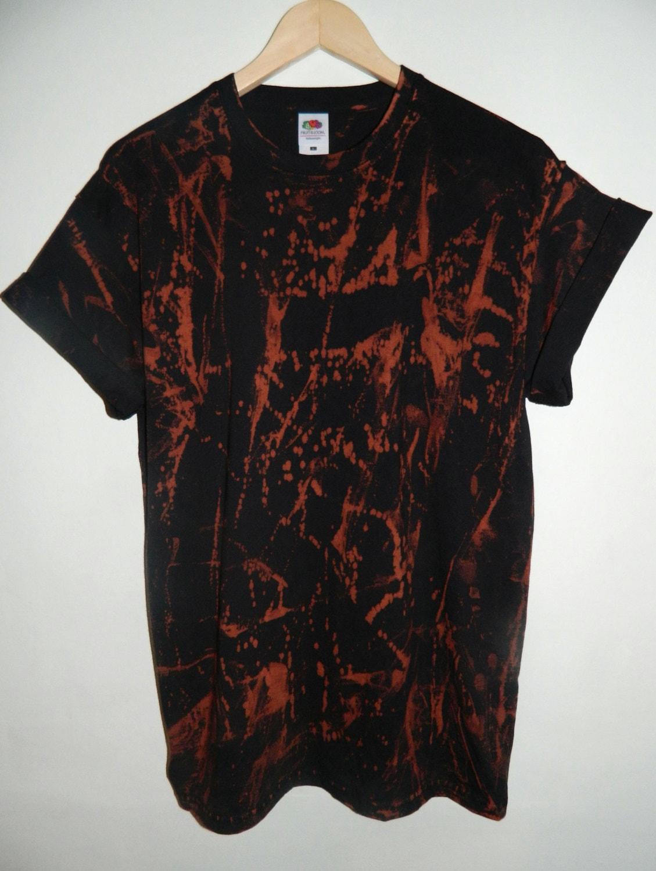 Tie dye t shirt acid wash t shirt hipster festival grunge for Custom acid wash t shirts